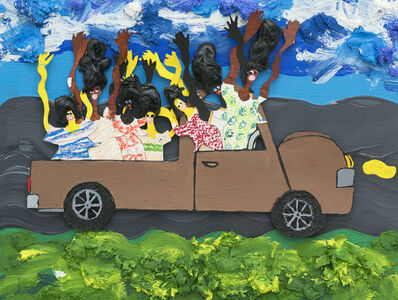 Devin Troy Strother, 'The green mile driving from banlieu to Montparnasse', 2019
