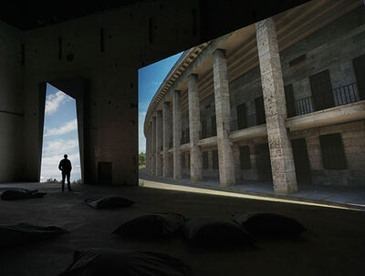 David Claerbout, 'Olympia (The Real-Time Disintegration into Ruins of the Berlin Olympic Stadium over the Course of a Thousand Years)', 2016