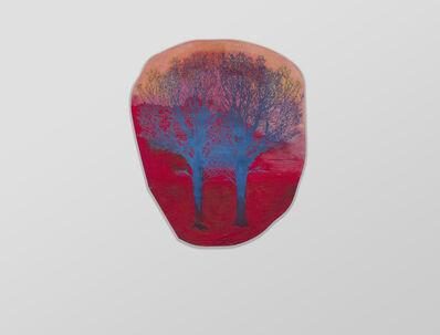 Hanneline Visnes, 'Blue on Red', 2015