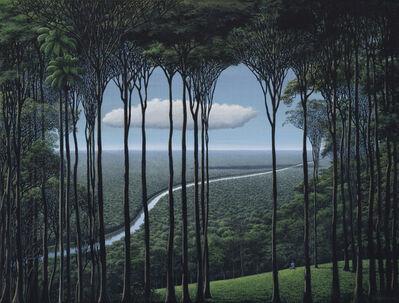 Tomás Sánchez, 'Meditador, nube, río', 2018