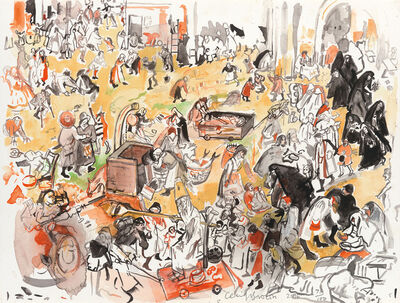 Cecily Brown, 'The Battle Between Carnival and Lent (after Bruegel)', 2017