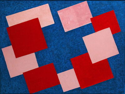 Kathleen Guthrie, 'Red Centre Blue', ca. 1969