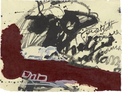 Antoni Tàpies, 'Roig i negre 5', 1985