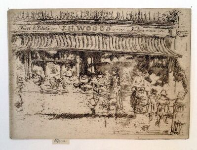 James Abbott McNeill Whistler, ' J.H. Woods' Fruit Shop, Chelsea', 1885