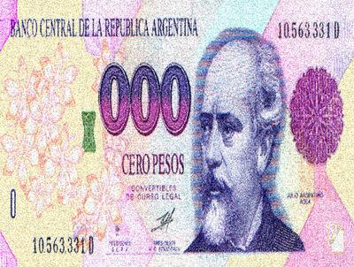 Margarita Paksa, 'Billete cero pesos', 1998