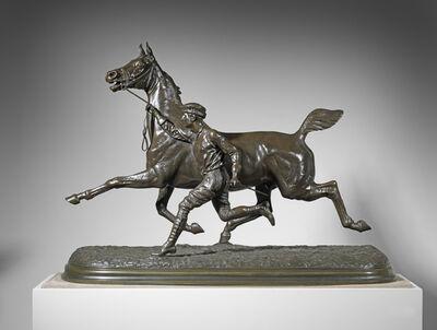 Arthur-Marie-Gabriel Comte du Passage, 'Horse and Groom Trotting, Large Version', ca. 1881