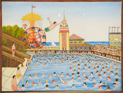 Vestie Davis, 'Untitled (Steeplechase Swimming Pool, Coney Island, NY)', 1959