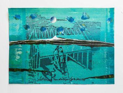 "Iain Baxter&, 'Iain Baxter ""Lettering Landscape"" Conceptual Monoprint Painting', 20th Century"