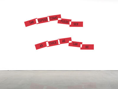 Lawrence Weiner, 'AS THICK AS CAN BE', 2016