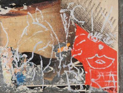 Mimmo Rotella, 'Il Cavallo sul Muro', 1988