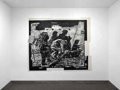 William Kentridge, 'The Flood from Triumphs and Laments', 2016
