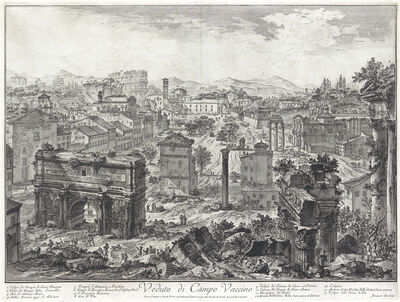 Giovanni Battista Piranesi, 'Veduta di Campo Vaccino', 1757