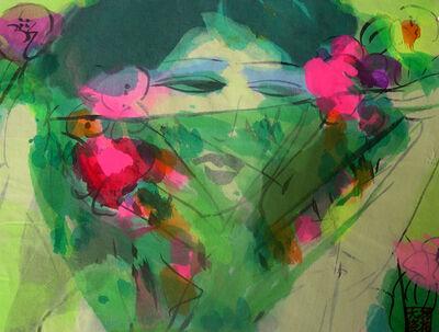 Walasse Ting 丁雄泉, ' Veil woman', 1985-1990