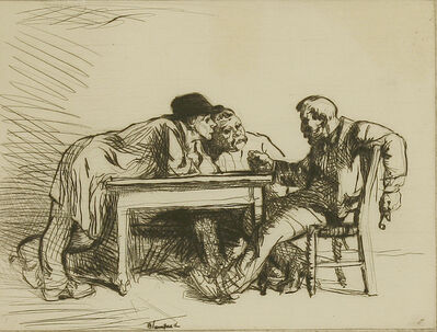Edmund Blampied, 'An Argument', 1917