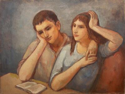 Bernard Karfiol, 'George and Virginie Reading Book', ca. 1924