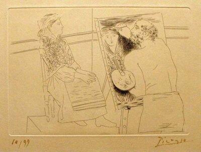 Pablo Picasso, 'Peintre Chauve devant son Chevalet', 1927