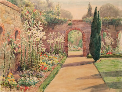 Anna Richards Brewster, 'Walled Garden in Surrey, England', ca. 1900s