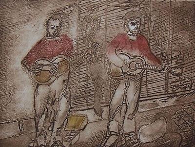 Jacob Gildor, 'Street Musicians', 1986
