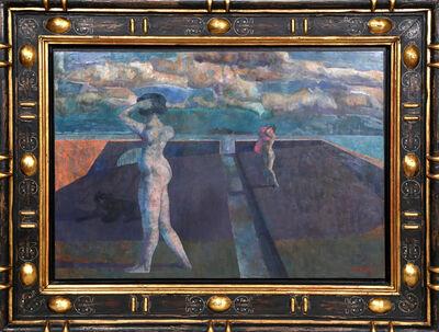 Armando Morales, 'Paysage avec Chien Deux Baigneuses XXII', 1996