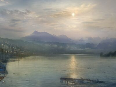 Hiroyuki Masuyama, 'J.M.W. Turner, Moonlight on the lake Lucerne with the Rigi in the distance, Switzerland, 1841', 2014