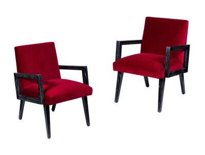 Paul Frankl, 'Pair of Midcentury Paul Frankl Chairs in Cerused Oak', ca. 1950