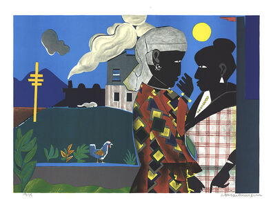 Romare Bearden, 'The Conversation', 1979