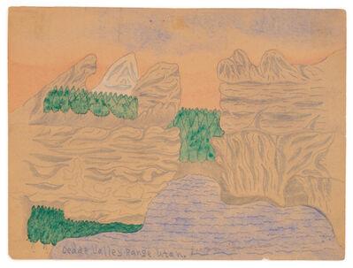 Joseph Yoakum, 'Cedar Valley Range, Utah', ca. 1966