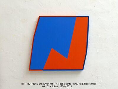 Rainer Tappeser, 'ROT/BLAU um BLAU/ROT', 1974/2019