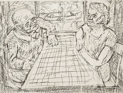Leon Kossoff, 'The Table by the Window', 1982
