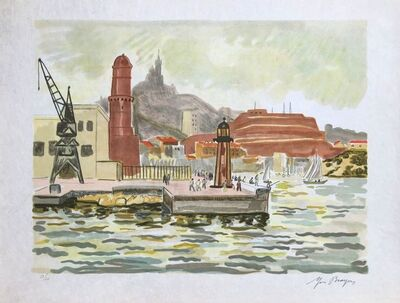 Yves Brayer, 'View on St Nicolas fort', 1974
