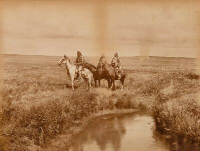 Edward Sheriff Curtis, 'The Three Chiefs', 1900-printed later