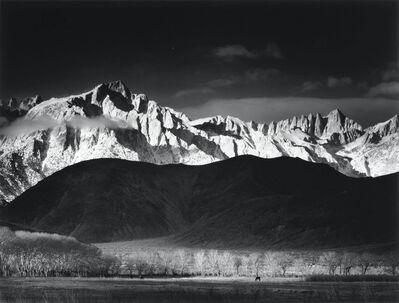 Ansel Adams, 'Winter Sunrise, Sierra Nevada from Lone Pine', 1944
