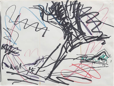 Frank Auerbach, 'Study for Tree in Primrose Hill', 1986