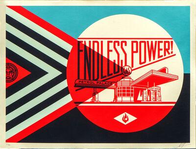 Shepard Fairey, 'Endless Power Petrol Place - Blue', 2019
