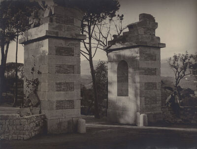 Man Ray, 'Max Ernst at the Entrance to Château de Clavary', 1920s