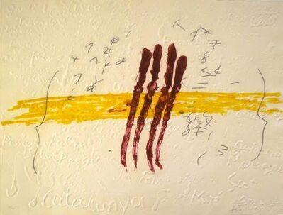 Antoni Tàpies, 'Quatrae ruis de sang', 1972