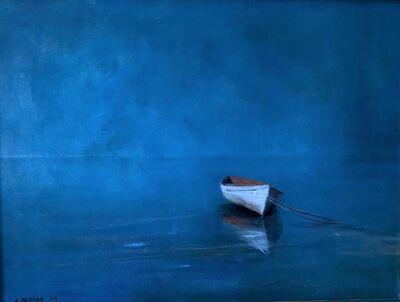 Anne Packard, 'White Dory in Blue', 2003