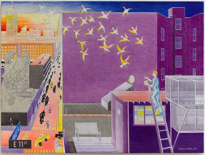 Anton van Dalen, 'Self-Portrait with Pigeon Coop Looking North', 2014