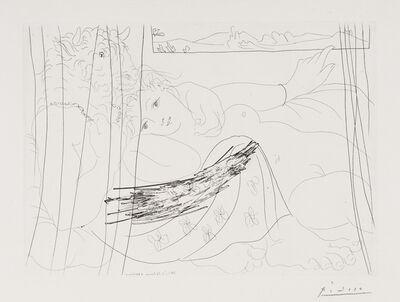 Pablo Picasso, 'Minotaure et Femme derrière un Rideau', 1933