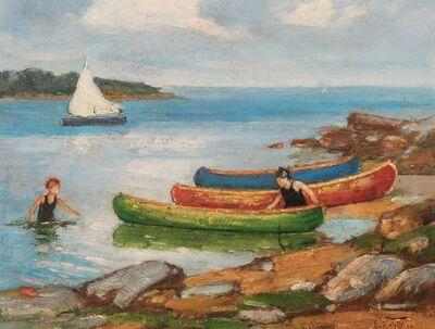 Edward Henry Potthast, 'Canoeing', circa 1923