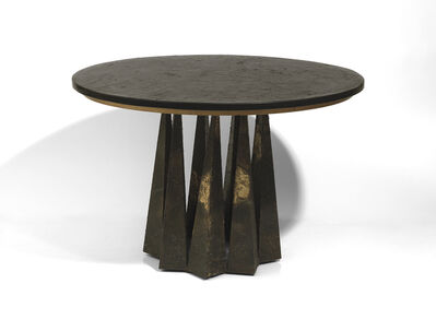 """Paul Evans (1931-1987), '""""Crown of thorns' dining table with slate top '"""