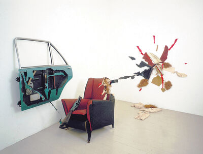 Bill Woodrow, 'Car Door, Armchair and Incident', 1981