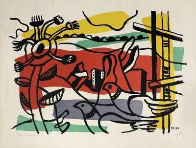 Fernand Léger, 'Composition aux deux oiseaux ', 1954