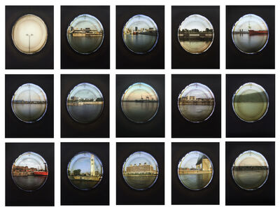 April Hickox, 'Vantage Point: Portholes (Set of 15) 7/7', 2009