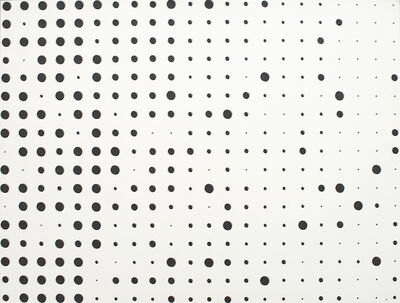 herman de vries, 'v70-52 from series random dots', 1970