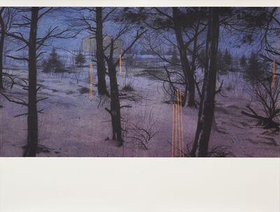 Andrew Mackenzie, 'Dusk Barn, Snow', 2019