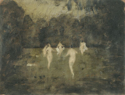 Alfons Walde, 'Four Bathers', ca. 1925