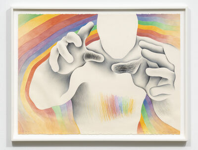 Judy Chicago, 'Study for Rainbow Man 3: Lights Out', 1982