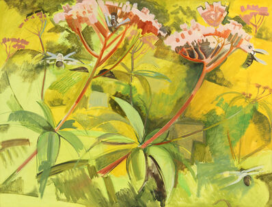 Lois Dodd, 'Joe Pye Weed (Eutrochium)', 1995