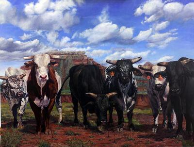 Jeff Dodd, 'Rodeo Stock #4 - Bulls', 2018